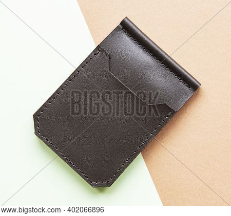 Stylish Leather Wallet, Brown Leather Money Clip