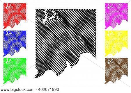 Clay County, Missouri (u.s. County, United States Of America, Usa, U.s., Us) Map Vector Illustration
