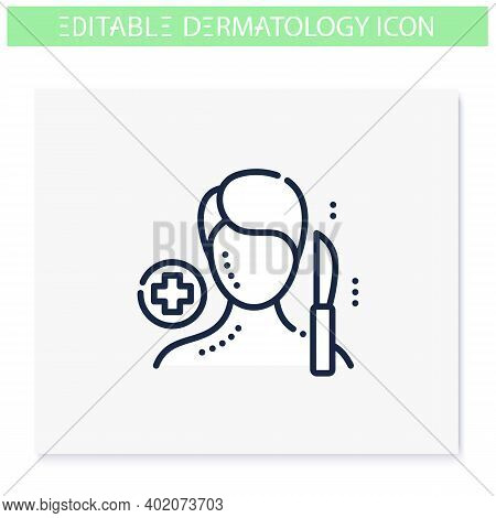 Dermatology Surgery Line Icon.cosmetic Operation. Skincare, Cosmetology Medicine. Face Plastic, Derm