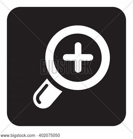 Zoom In Icon Isolated On White Background From Editing Collection. Zoom In Icon Trendy And Modern Zo