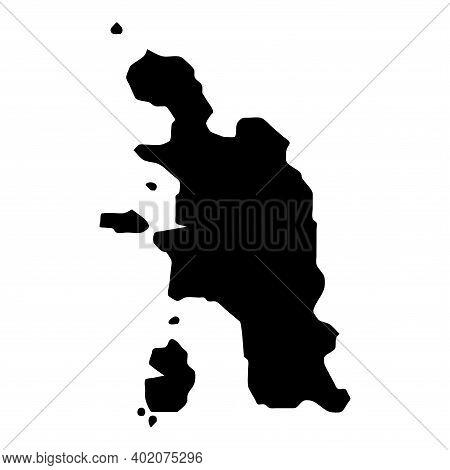Pangkor Island Map. Isolated Black Island Outline. Vector Illustration.