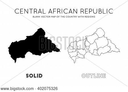 Car Map. Blank Vector Map Of The Country With Regions. Borders Of Car For Your Infographic. Vector I