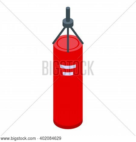 Punch Bag Icon. Isometric Of Punch Bag Vector Icon For Web Design Isolated On White Background