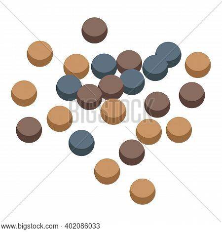 Farm Canola Grains Icon. Isometric Of Farm Canola Grains Vector Icon For Web Design Isolated On Whit
