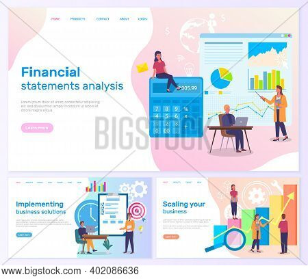 Scaling Business, Financial Statements Analysis, Implementing Business Solutions, Charts And Graphic