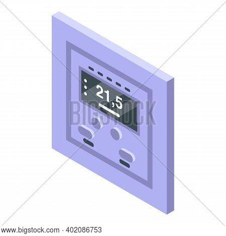 Room Temperature Control Icon. Isometric Of Room Temperature Control Vector Icon For Web Design Isol