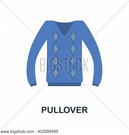 Pullover Flat Icon. Color Simple Element From Clothes Collection. Creative Pullover Icon For Web Des
