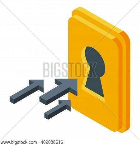 Keyhole Opportunity Icon. Isometric Of Keyhole Opportunity Vector Icon For Web Design Isolated On Wh