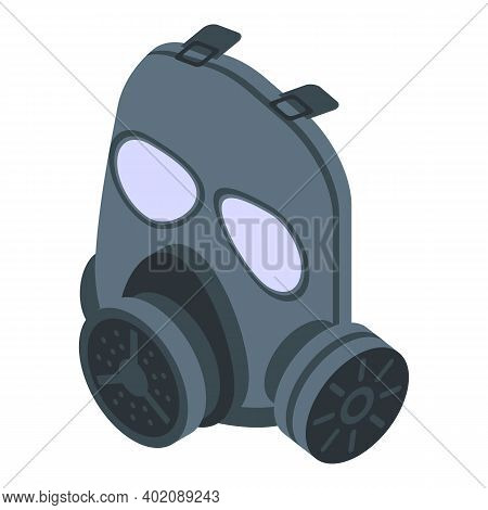 Toxic Gas Mask Icon. Isometric Of Toxic Gas Mask Vector Icon For Web Design Isolated On White Backgr