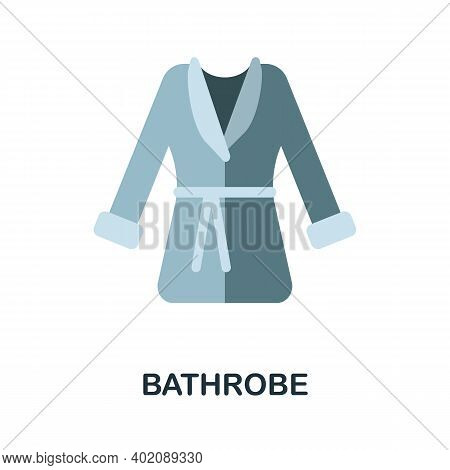 Bathrobe Flat Icon. Color Simple Element From Clothes Collection. Creative Bathrobe Icon For Web Des