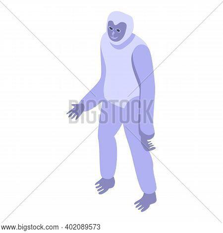 Monkey Gibbon Icon. Isometric Of Monkey Gibbon Vector Icon For Web Design Isolated On White Backgrou