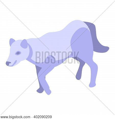Nordic Wolf Icon. Isometric Of Nordic Wolf Vector Icon For Web Design Isolated On White Background