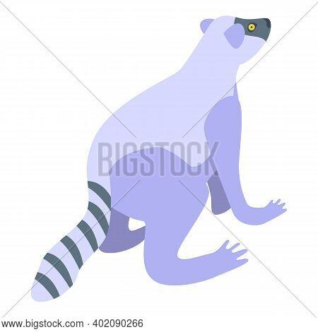 Lemur Icon. Isometric Of Lemur Vector Icon For Web Design Isolated On White Background