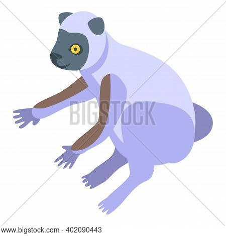 Forest Lemur Icon. Isometric Of Forest Lemur Vector Icon For Web Design Isolated On White Background