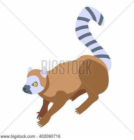 South Lemur Icon. Isometric Of South Lemur Vector Icon For Web Design Isolated On White Background