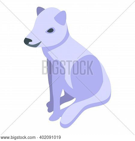 Arctic Fox Icon. Isometric Of Arctic Fox Vector Icon For Web Design Isolated On White Background