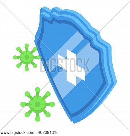 Protection Against Coronavirus Icon. Isometric Of Protection Against Coronavirus Vector Icon For Web