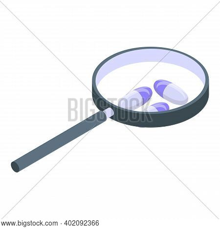Drug Research Icon. Isometric Of Drug Research Vector Icon For Web Design Isolated On White Backgrou