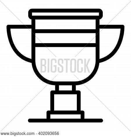 Gold Cup Effort Icon. Outline Gold Cup Effort Vector Icon For Web Design Isolated On White Backgroun