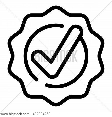 Approved Wax Icon. Outline Approved Wax Vector Icon For Web Design Isolated On White Background