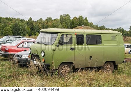 Alkino, Russia - September 20, 2008: Russian 4x4 Van Uaz 3909 At The Countryside.