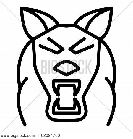 Zoo Wolf Icon. Outline Zoo Wolf Vector Icon For Web Design Isolated On White Background