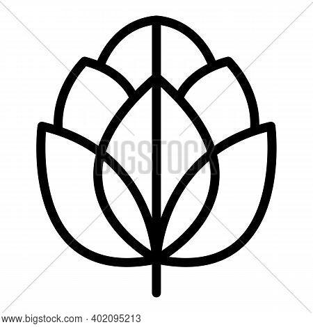 Garden Artichoke Icon. Outline Garden Artichoke Vector Icon For Web Design Isolated On White Backgro