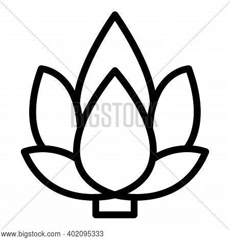 Flower Artichoke Icon. Outline Flower Artichoke Vector Icon For Web Design Isolated On White Backgro