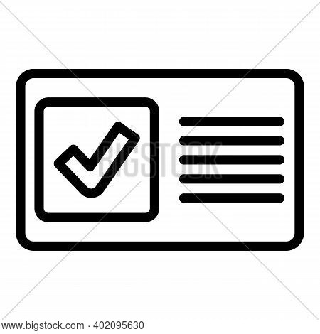Expertise Of Accounts Icon. Outline Expertise Of Accounts Vector Icon For Web Design Isolated On Whi