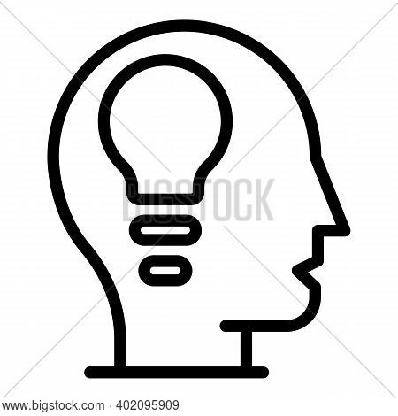 Expertise Thinking Icon. Outline Expertise Thinking Vector Icon For Web Design Isolated On White Bac