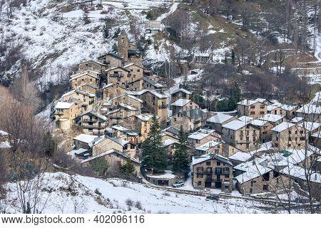 Landscpe In Os De Civis, Lleida, Catalonia, Spain In Winter.