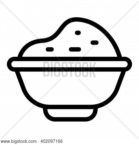 Bowl Of Porridge Icon. Outline Bowl Of Porridge Vector Icon For Web Design Isolated On White Backgro