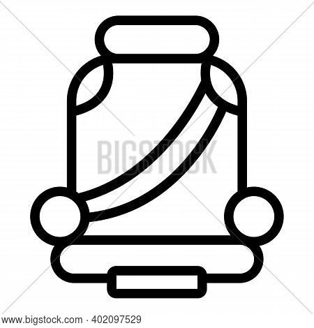 Child Seat With Safety Belt Icon. Outline Child Seat With Safety Belt Vector Icon For Web Design Iso