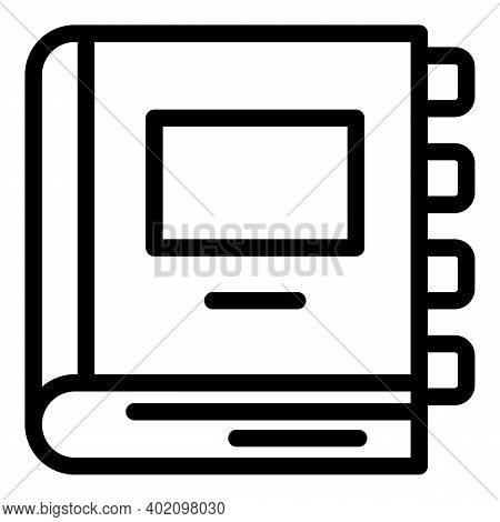 School Textbook Icon. Outline School Textbook Vector Icon For Web Design Isolated On White Backgroun