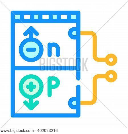 Working Principle Color Icon Vector Illustration Color