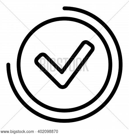 Approved Sign Icon. Outline Approved Sign Vector Icon For Web Design Isolated On White Background