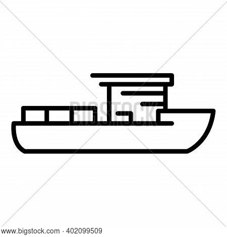 Modern Vessel Icon. Outline Modern Vessel Vector Icon For Web Design Isolated On White Background