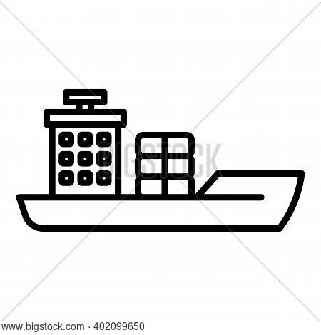Heavy Vessel Icon. Outline Heavy Vessel Vector Icon For Web Design Isolated On White Background