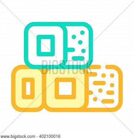Bio Fuel Briquettes Color Icon Vector Illustration