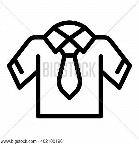 Tshirt Uniform Icon. Outline Tshirt Uniform Vector Icon For Web Design Isolated On White Background