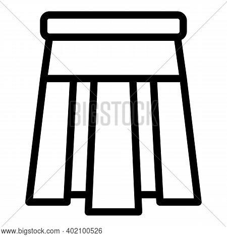 Girl Uniform Skirt Icon. Outline Girl Uniform Skirt Vector Icon For Web Design Isolated On White Bac