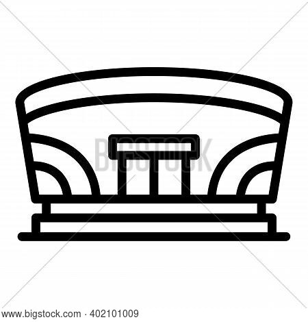 School Gym Hall Icon. Outline School Gym Hall Vector Icon For Web Design Isolated On White Backgroun