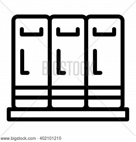 Locker Room Icon. Outline Locker Room Vector Icon For Web Design Isolated On White Background