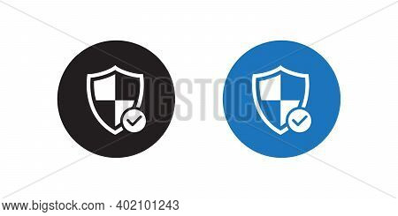 Shield Protection Icon Vector In Flat Style. Safeguard Symbol Illustration