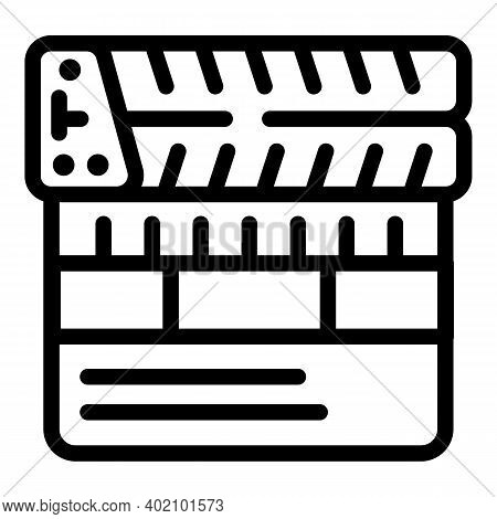 Movie Actualization Icon. Outline Movie Actualization Vector Icon For Web Design Isolated On White B