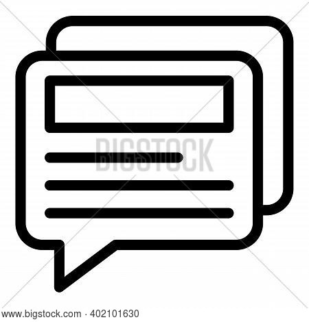 Chat Actualization Icon. Outline Chat Actualization Vector Icon For Web Design Isolated On White Bac