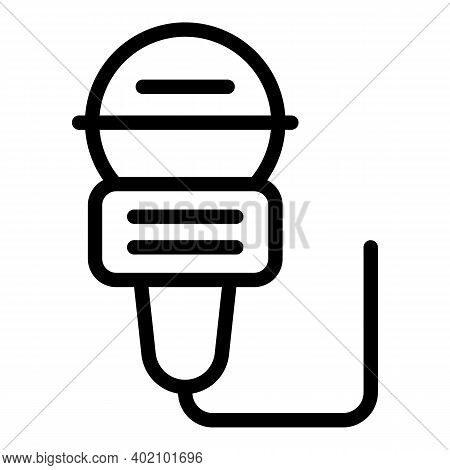 Actual Microphone Icon. Outline Actual Microphone Vector Icon For Web Design Isolated On White Backg