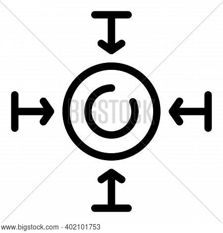 Self Actualization Icon. Outline Self Actualization Vector Icon For Web Design Isolated On White Bac