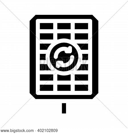 Renewable Energy Glyph Icon Vector Illustration Black