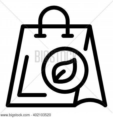 Bio Bag Icon. Outline Bio Bag Vector Icon For Web Design Isolated On White Background